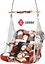 ZOSOE Cotton Swing Chair for Kids Baby's Children Folding and Washable 1-8 Years with Safety Belt - Home,Garden Jhula for Babies | Swing for Kids | Baby Hanging Swing Jula (Multicolor)