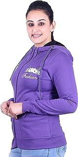 Plush Women's Cotton Zipper & Hoody Sweatshirts/Sweatshirt (SW-20003)