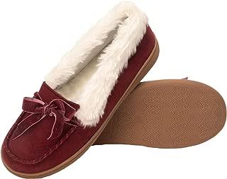 Womens Micro Suede Moccasin Indoor Outdoor Slipper Shoe
