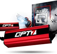 OPT7 Bullet-R H11 H8 H9 HID Kit - 3X Brighter - 4X Longer Life - All Bulb Sizes and Colors - 2 Yr Warranty [8000K Ice Blue Xenon Light]
