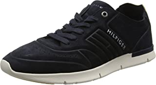 Tommy Hilfiger Men's Unlined Th Light Suede Runner Low-Top Sneakers