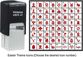 Printtoo Personalized Easter Theme Icons Rubber Stamp Self Inking Stamper 24 mm-Red