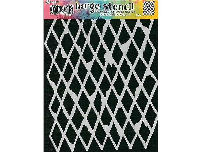 Ranger Rough Dylusions Stencil Lg Diamond