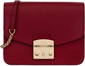Furla Metropolis Ladies Small Dark Red Leather Shoulder Bag 978675