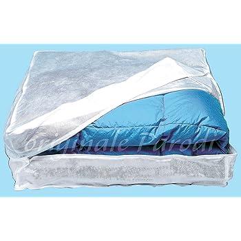 coperte Parnerme borsa portaoggetti in 2 pezzi materiale di aggiornamento per piumini con maniglia rinforzata robusta chiusura lampo trasparente biancheria da letto traspirante
