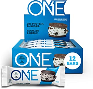 ONE Protein Bars, Cookies & Crème, Gluten Free Protein Bars with 20g Protein and only 1g Sugar, Guilt-Free Snacking for Hi...