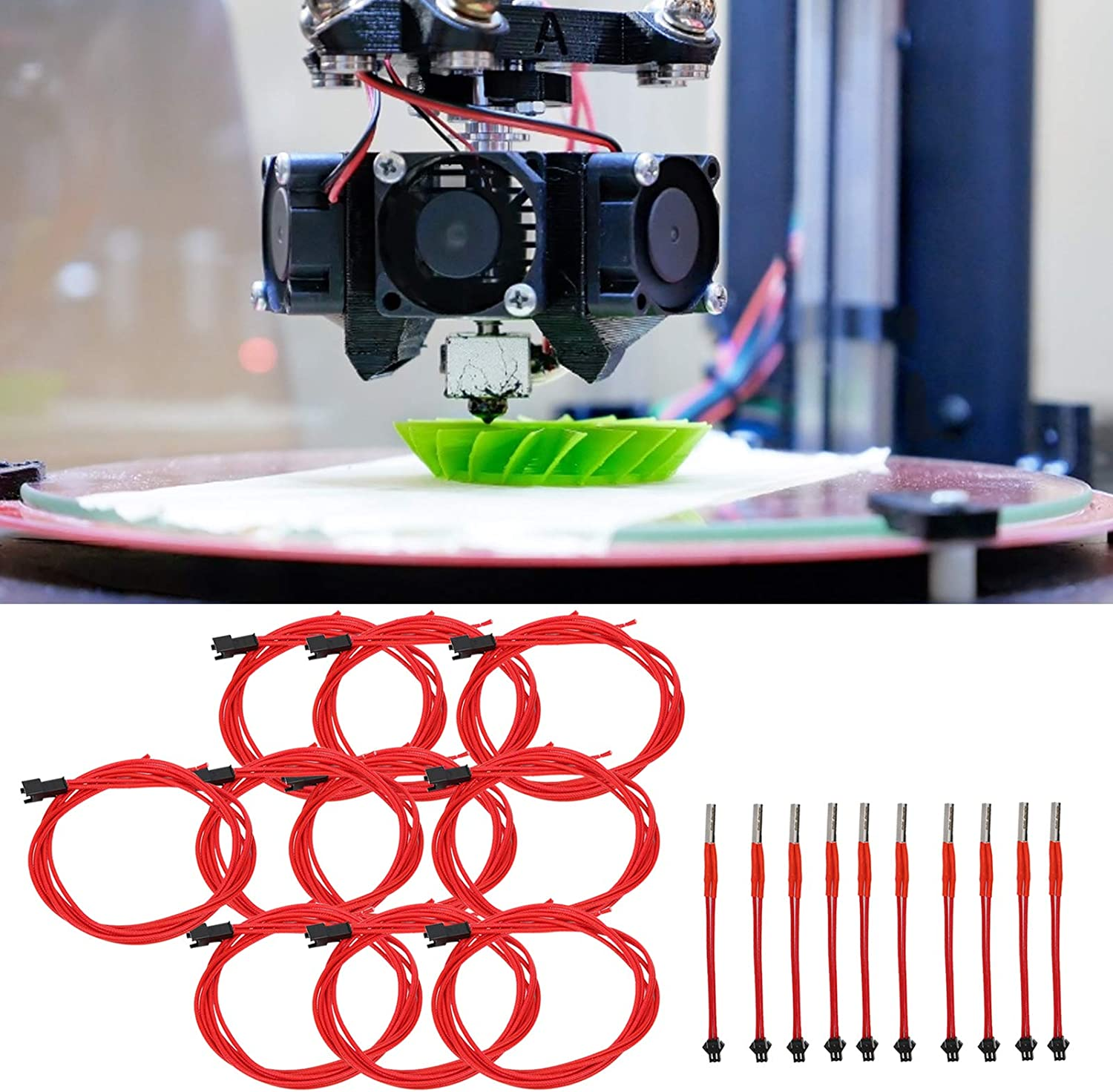 Walfront 620 Cartridge Heater,3D Printer Heating Rod with Terminal 12V 40W//24V 40W Fit 3D Printer 12V,40W Pack 5