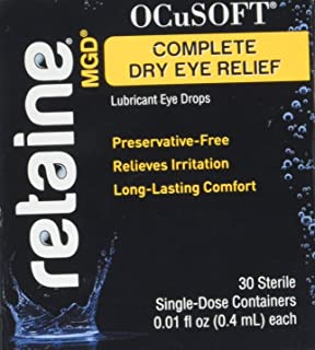 OCuSOFT Retaine MGD Ophthalmic Emulsion Sterile Single-Dose Containers 30 ea (Pack of 3)