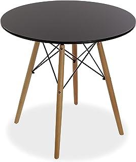 Versa Priya Mesa de comedor para Cocina, Terraza, Jardín o Comedor, Medidas (Al x L x An) 73 x 80 x 80 cm, Madera, Color N...