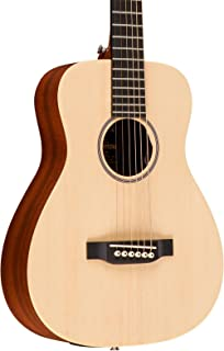 Martin X Series LX1E Little Martin Left-Handed Acoustic-Electric Guitar Natural