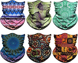 Venswell Neck Gaiter Mask for Men Women, Seamless Bandana Rave Face Cover Mask, Magic Face Scarf, Balaclava,Headband, Head...