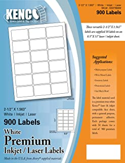 Kenco Premium White Address Shipping UPC Laser/Inkjet Labels Made in The USA (2.5