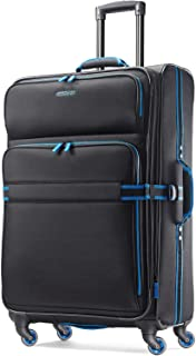 American Tourister Eclipse Softside Spinner Luggage (Black/Blue, 29 inch)