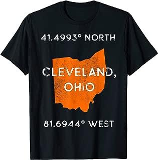Cleveland Ohio Pride - Latitude and Longitude Coordinates T-Shirt