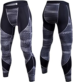 LUKEEXIN Cool Dry Sports Tights Pants Compression Baselayer Leggings for Mens