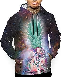 Go KJ Unisex Space Pretty Floral Pineapple Hoodies Cute Pullover Hood Jackets Sweatshirt