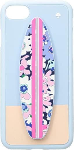 Silicone Surfboard Stand Phone Case for iPhone 8