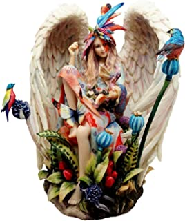 Atlantic Collectibles Stock Clearance Sheila Wolk Masterpiece Sanctuary Native Angel in Heavenly Garden Figurine 9