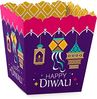 Big Dot of Happiness Happy Diwali - Party Mini Favor Boxes - Festival of Lights Party Treat Candy Boxes - Set of 12