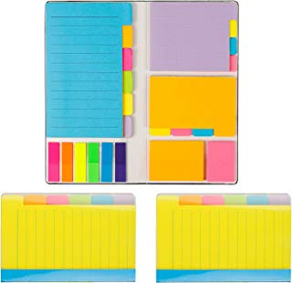 Gydandir 522 Pieces Divider Sticky Notes Self-Stick Notes Divider Notes 180 Ruled Lined Notes,48 Dotted Notes,48 Blank Notes,48 Orange and Pink,150 Colorful Index Tabs