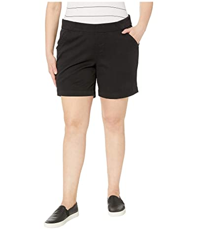 Jag Jeans 8 Plus Size Gracie Pull-On Shorts (Black) Women