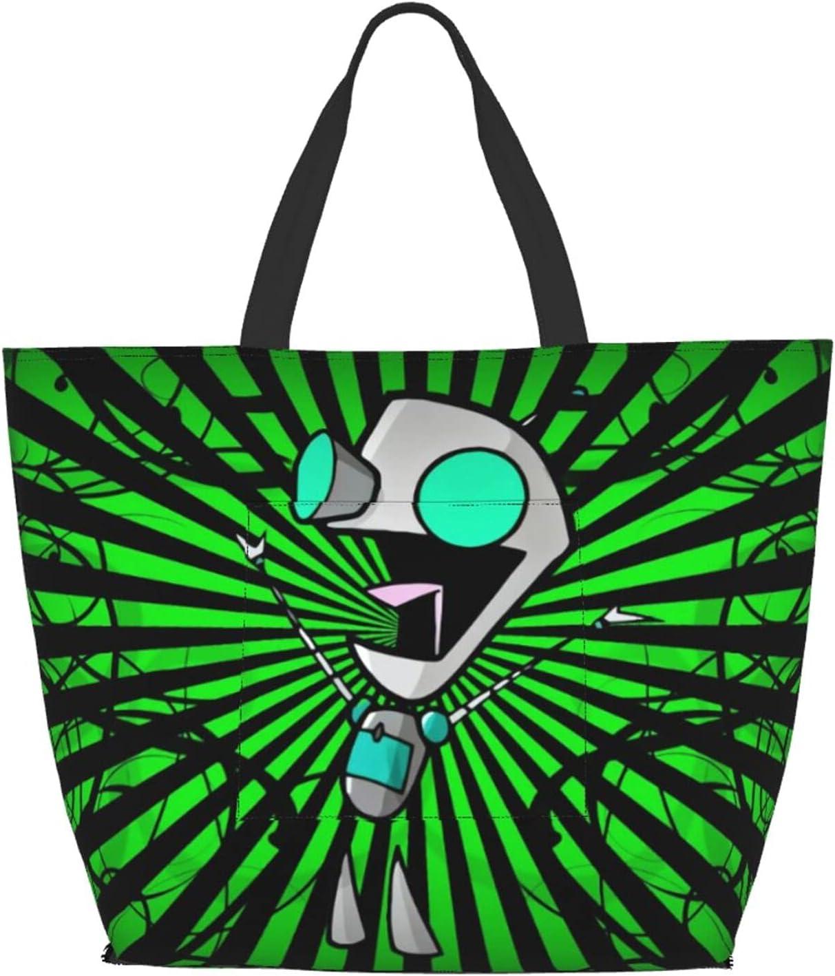 Invader Zim Shoulder Travel Bag Wear Capac Big High quality Max 60% OFF new Tote