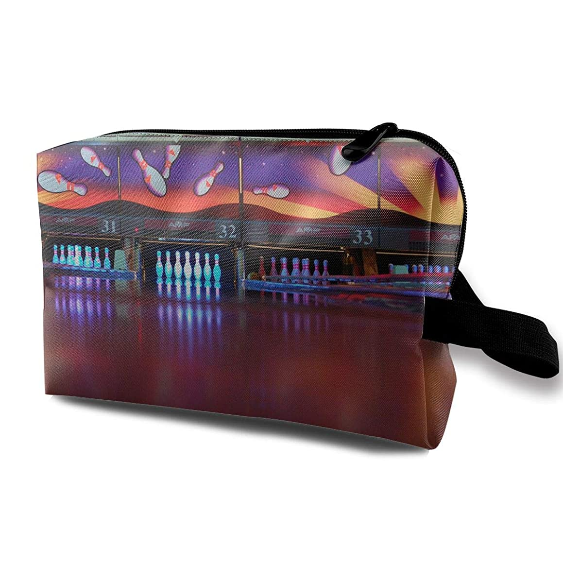 Storage Bag Travel Pouch Cosmetic Stationery Holder Bowling Purse Organizer Power Bank Data Wire