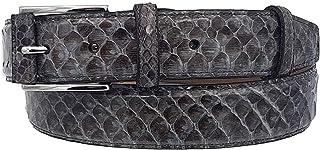 ESPERANTO Cintura 35 mm In Pitone lucido Con Fibbia semiricoperta colore Grigio