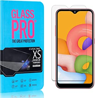 Screen Protector Compatible with Galaxy A01, CUSKING 99.99% Clarity 9H Tempered Glass Screen Protector for Samsung Galaxy A01, Bubble Free, Ultra Thin, 4 Pack