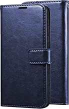 CEDO PU Leather Magnetic Flip Cover Wallet Back Cover Case for Samsung Galaxy M10 (Blue)
