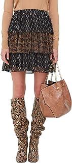 Motivi : Minigonna a Balze Fantasia Cashmere (Italian Size)
