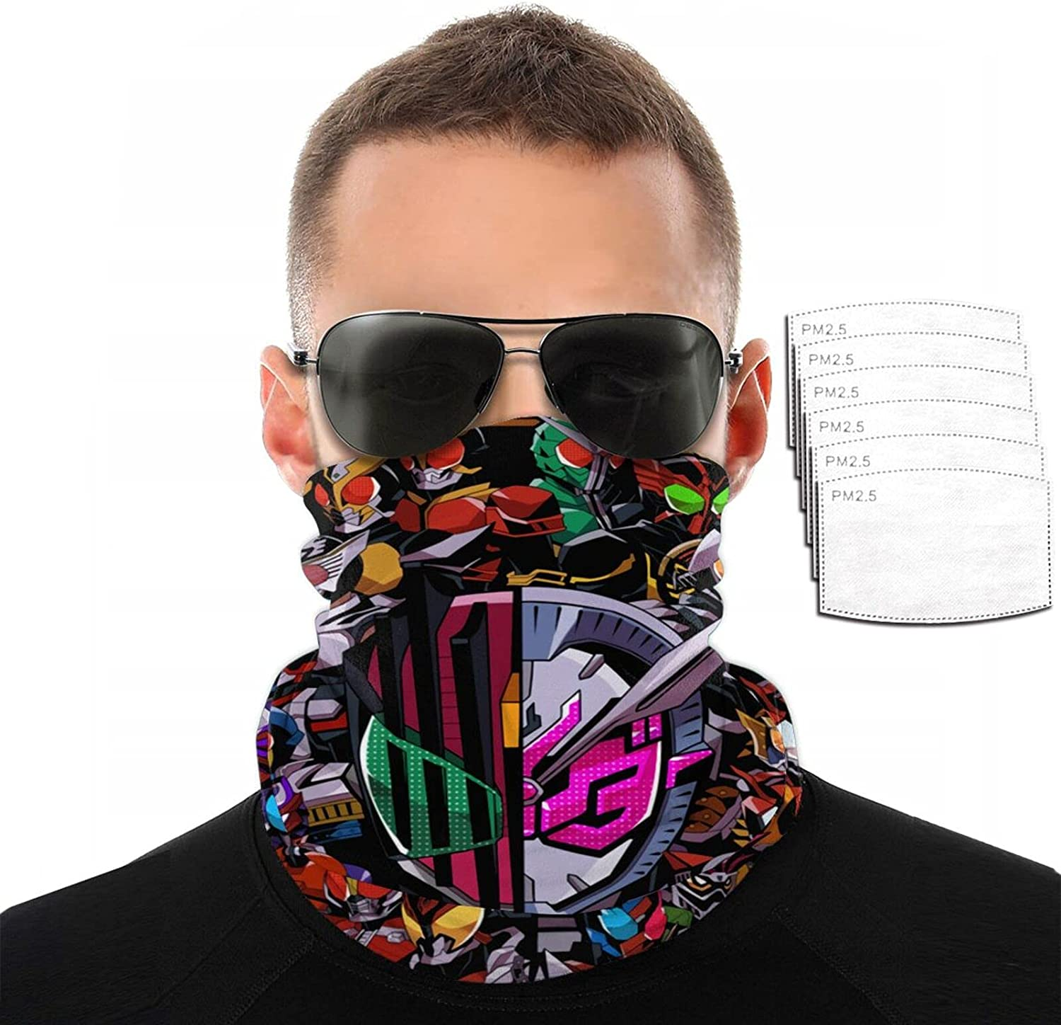 High material New color Anime Rider Black 20 Years Variety Face 3D Scarf Printing Towel