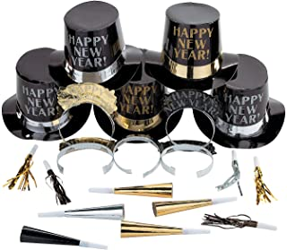 New Year's Eve Midnight Elegance Party Pack for 10