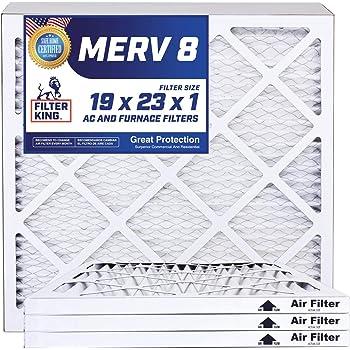 Nordic Pure 19/_1//4x23/_1//4x1 Exact MERV 12 Tru Mini Pleat AC Furnace Air Filters 3 Pack