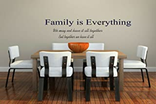 Design with Vinyl Family Is Everything - Living Room Home Decor Vinyl Wall Decal Size : 10x30 Color : Navy Blue Navy Blue