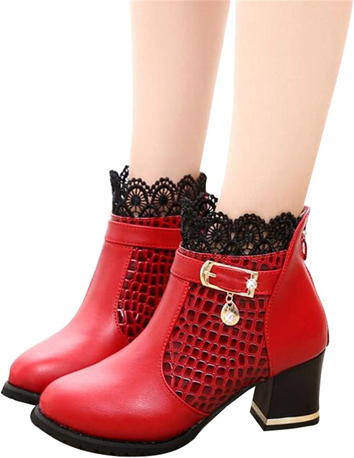 Phillip Dudley Zip Women Boots Thick Heel Platform shoes Buckle Autumn Winter Sexy Boots Riding Ankle Boots