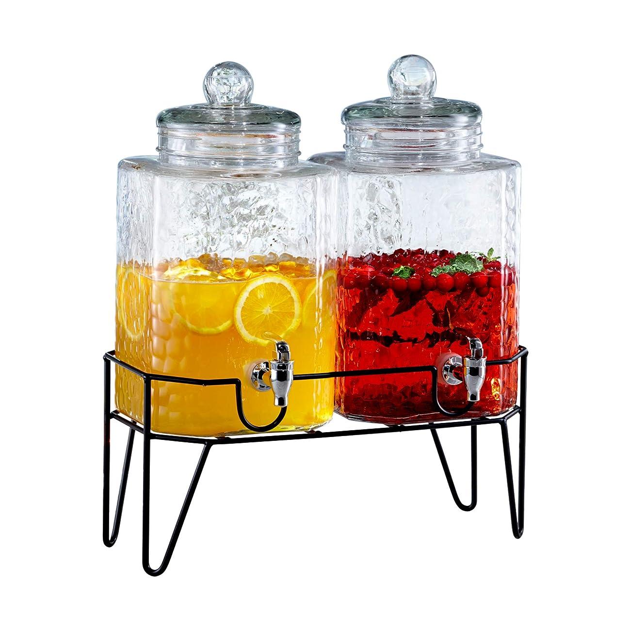 盆地限られた甥Style Setter Hamburg Dispensers with Stand (Set of 2?)、クリア