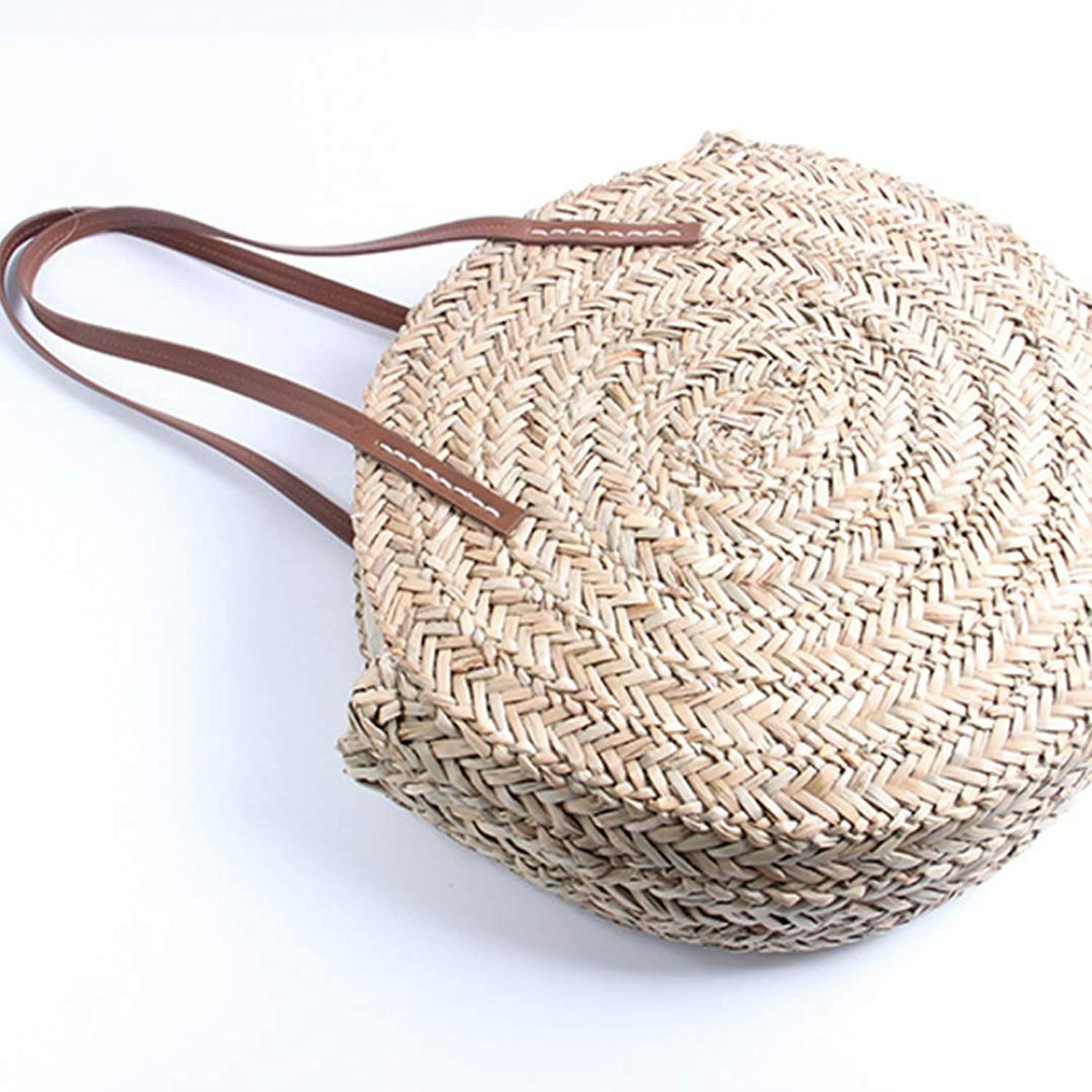 2019 Round Straw Bags Beach Tote Handbag for Braided shoulder rattan designer brand wicker big woven bohemian