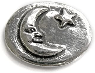 Moon - Dream : Pocket Token or Lucky Novelty Coin, One Inch, Handcrafted Lead-Free Pewter