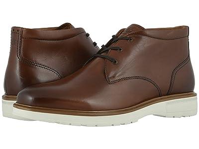 Florsheim Astor Plain Toe Chukka Boot (Cognac Smooth/Cream Sole) Men