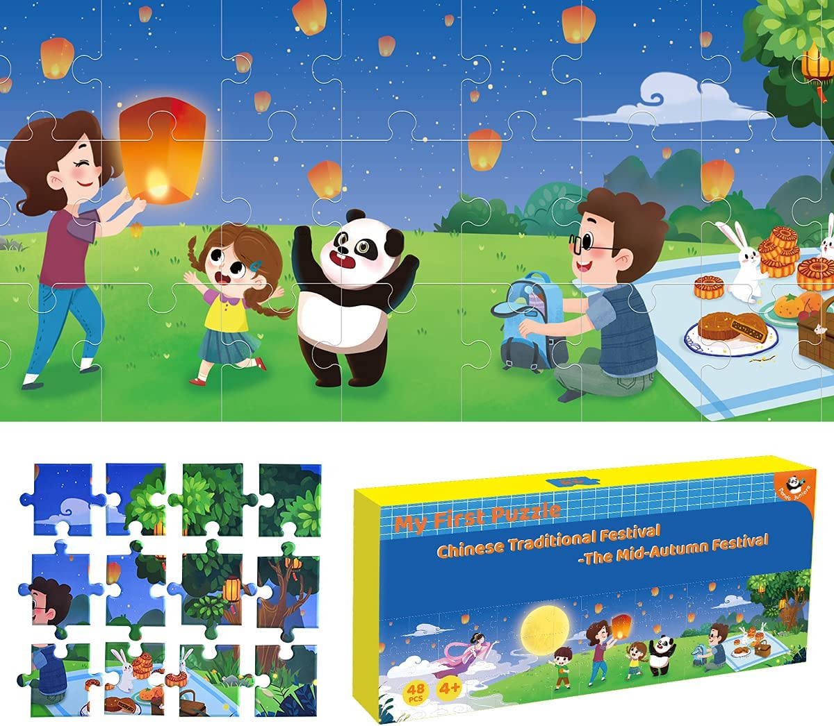 Panda Juniors 48 Pieces Puzzle for Paper 4-8 Free shipping New Kids Max 47% OFF Jumbo Jigsaw