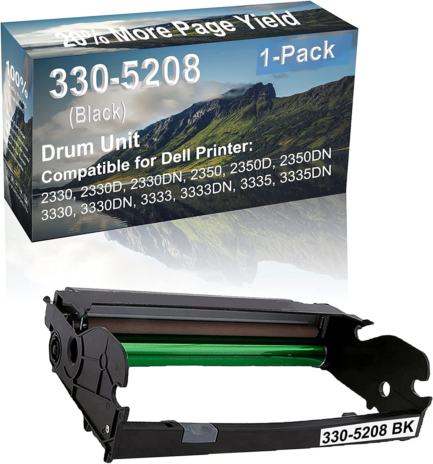 1-Pack Compatible 330-5208 Drum Kit use for Dell 2330, 2330D, 2330DN, 2350 Printer (Black)