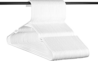 Neaties American Made White Plastic Hangers with Notches, Plastic Clothes Hangers Ideal for Everyday Use, Clothing Standard Hangers, 30pk