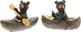 The Bridge Collection Canoeing & Kayaking Black Bear Figurines, Set of 2 Assorted