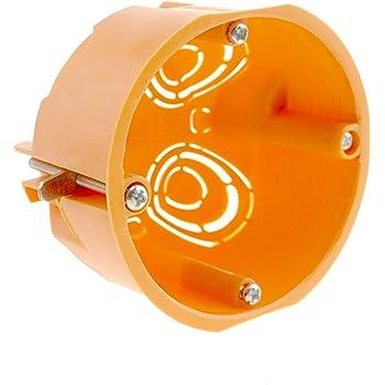 BeMatik - Caja de empotrar Redonda 67mm para Paredes Huecas: Amazon.es: Electrónica