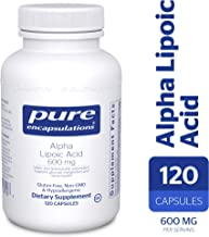 Pure Encapsulations - Alpha Lipoic Acid 600 mg - Hypoallergenic Water- and Lipid-Soluble Antioxidant Supplement - 120 Capsules