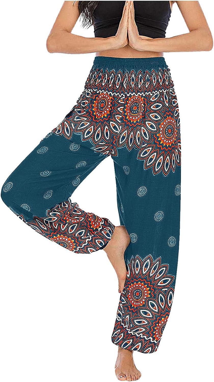 HHoo88 Women's Floral Print Boho Bohemia 2021new shipping free shipping High material Pants Yoga Harem