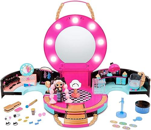 LOL Surprise coffret Salon de Coiffure avec une Mini Poupée Mannequin Exclusive - 50 Surprises avec des Accessoires -...