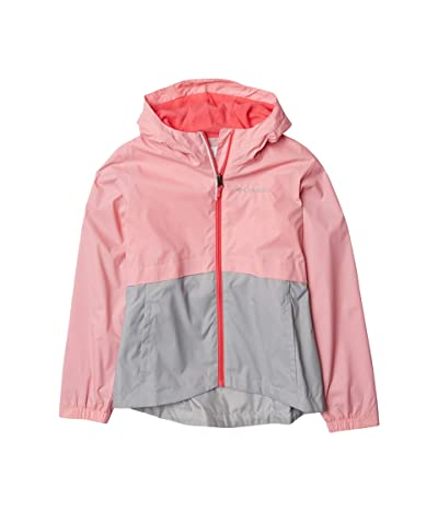 Columbia Kids Rain-Zillatm Jacket (Little Kids/Big Kids) (Pink Orchid/Columbia Grey) Girl