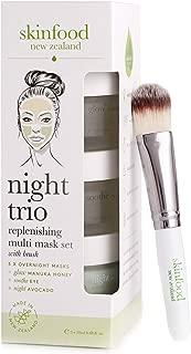 Skinfood Night Trio Face Mask Set with Manuka Honey, Avocado and Aloe Vera to Soothe, Moisturize and Replenish Overnight